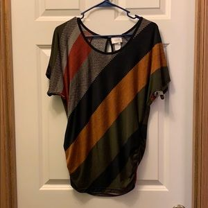 Colorblock dolman sleeve blouse - EUC